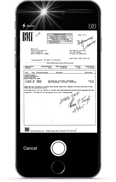 Take a picture of any document and fax it with the eFax® iOS app.